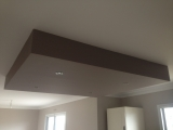 Faux plafond réalisé en placo plâtre