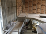 Isolation travail en hauteur sous plafond de 7 m