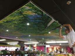Plafond tendu U express St brieuc